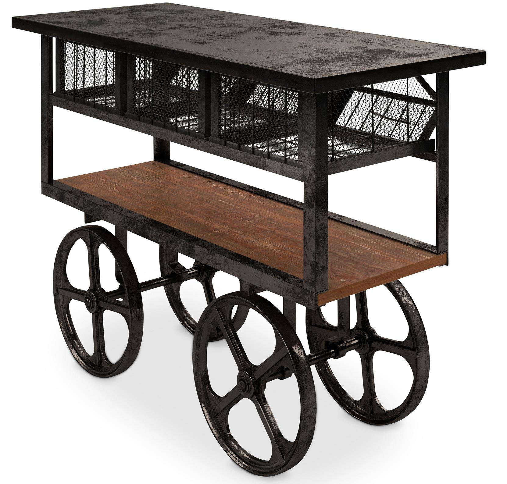 meuble de rangement chariot industriel. Black Bedroom Furniture Sets. Home Design Ideas