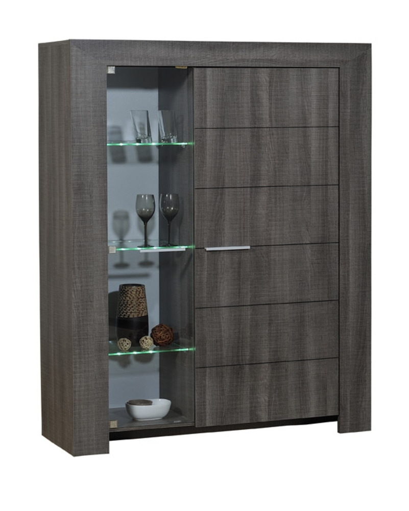 meuble de rangement gris fonc lathi 56 mod le vaisselier. Black Bedroom Furniture Sets. Home Design Ideas
