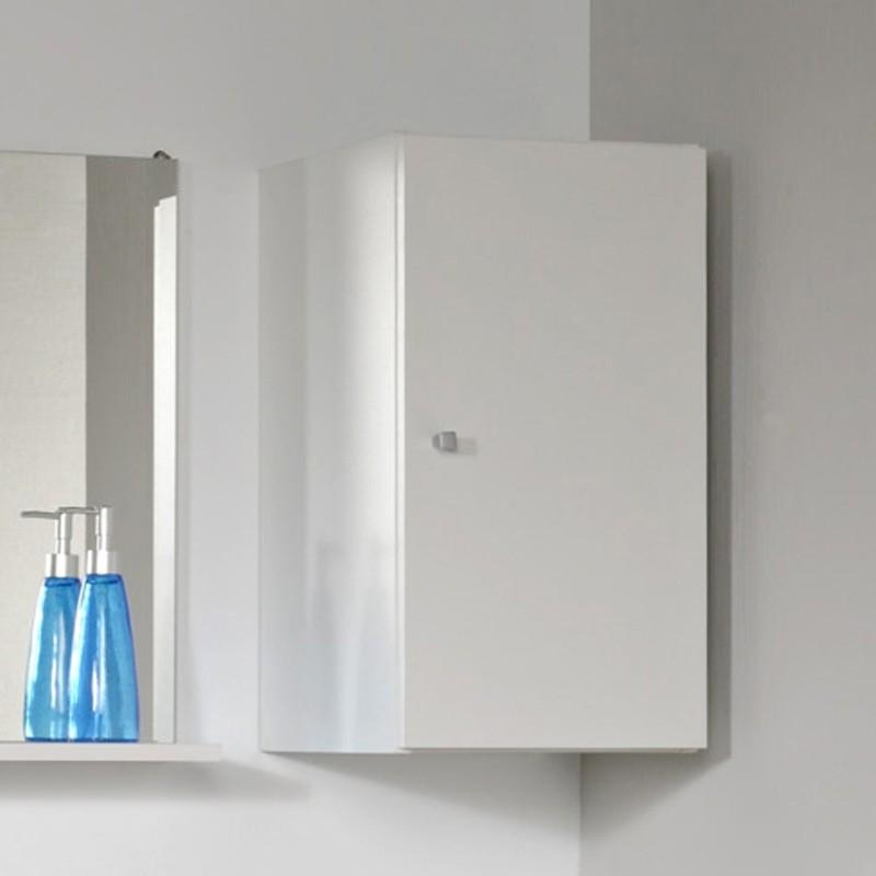 meuble haut mural 1 porte blanc fiona. Black Bedroom Furniture Sets. Home Design Ideas