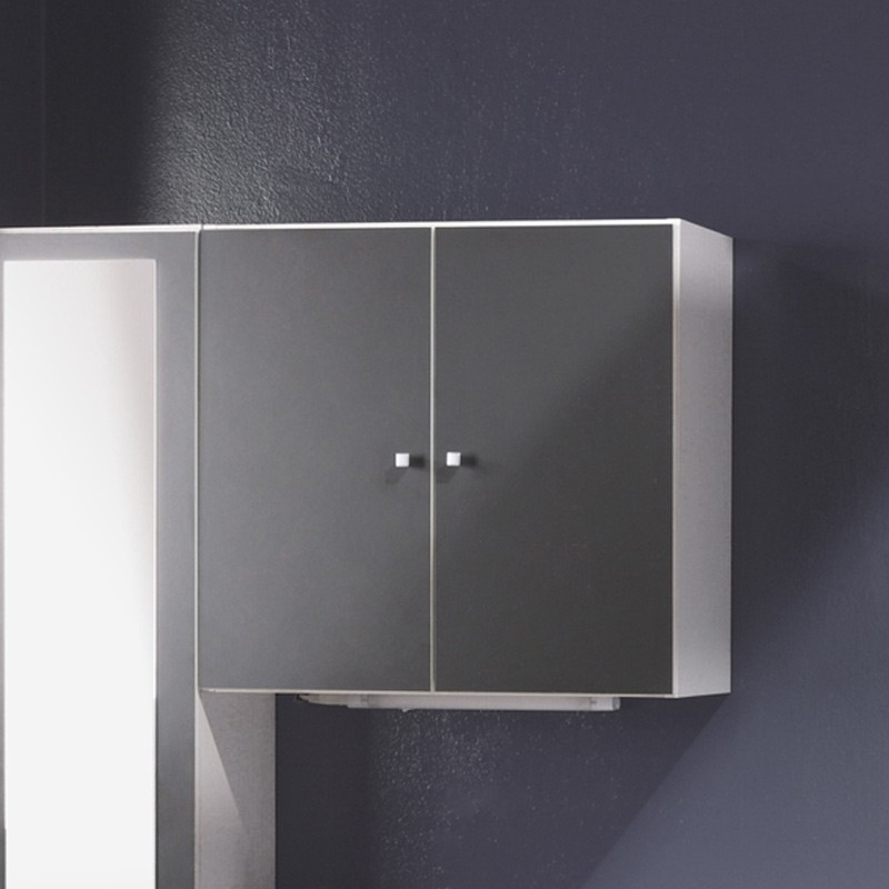 meuble haut 2 portes gris anthracite fiona. Black Bedroom Furniture Sets. Home Design Ideas