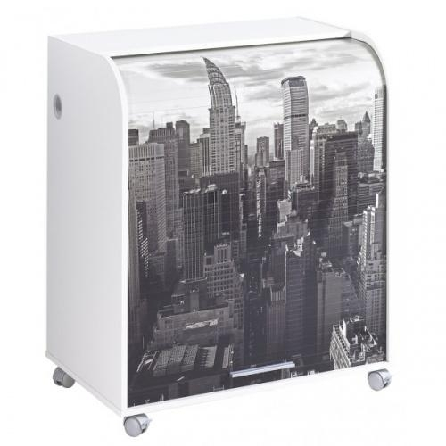 Meuble informatique blanc new york for Meuble bureau new york