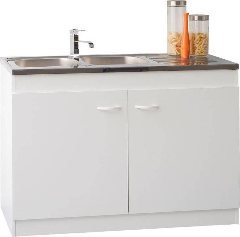 meuble sous vier 2 portes blanc satura 120 cm. Black Bedroom Furniture Sets. Home Design Ideas