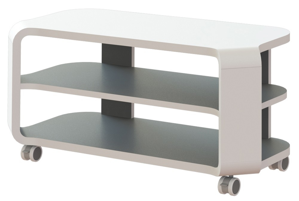 Meuble tv blanc techno for Petit meuble tele blanc