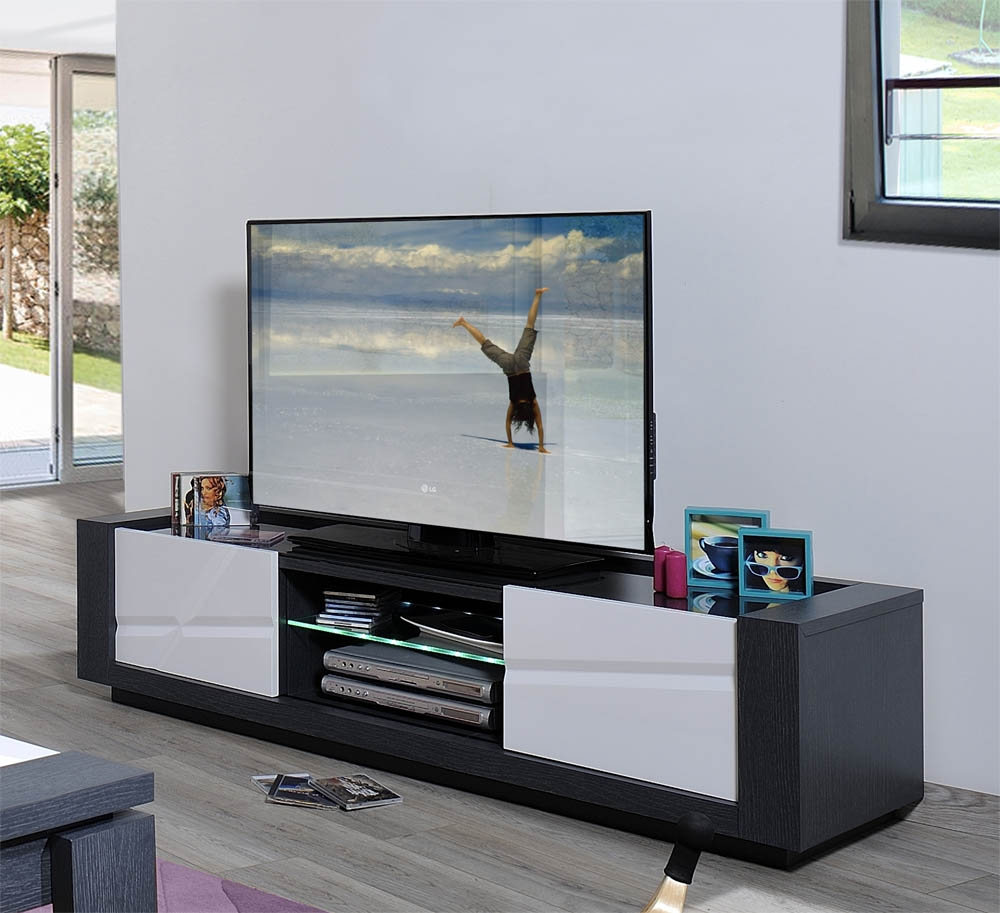 Meuble Tv Led Gris Artzein Com # Meuble Tele Lumiere