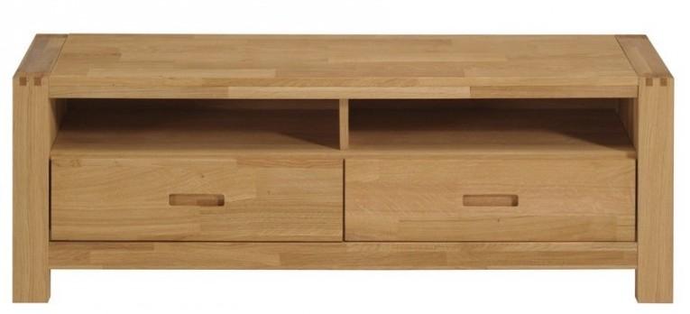 meuble tv bois massif ch ne huil margot. Black Bedroom Furniture Sets. Home Design Ideas