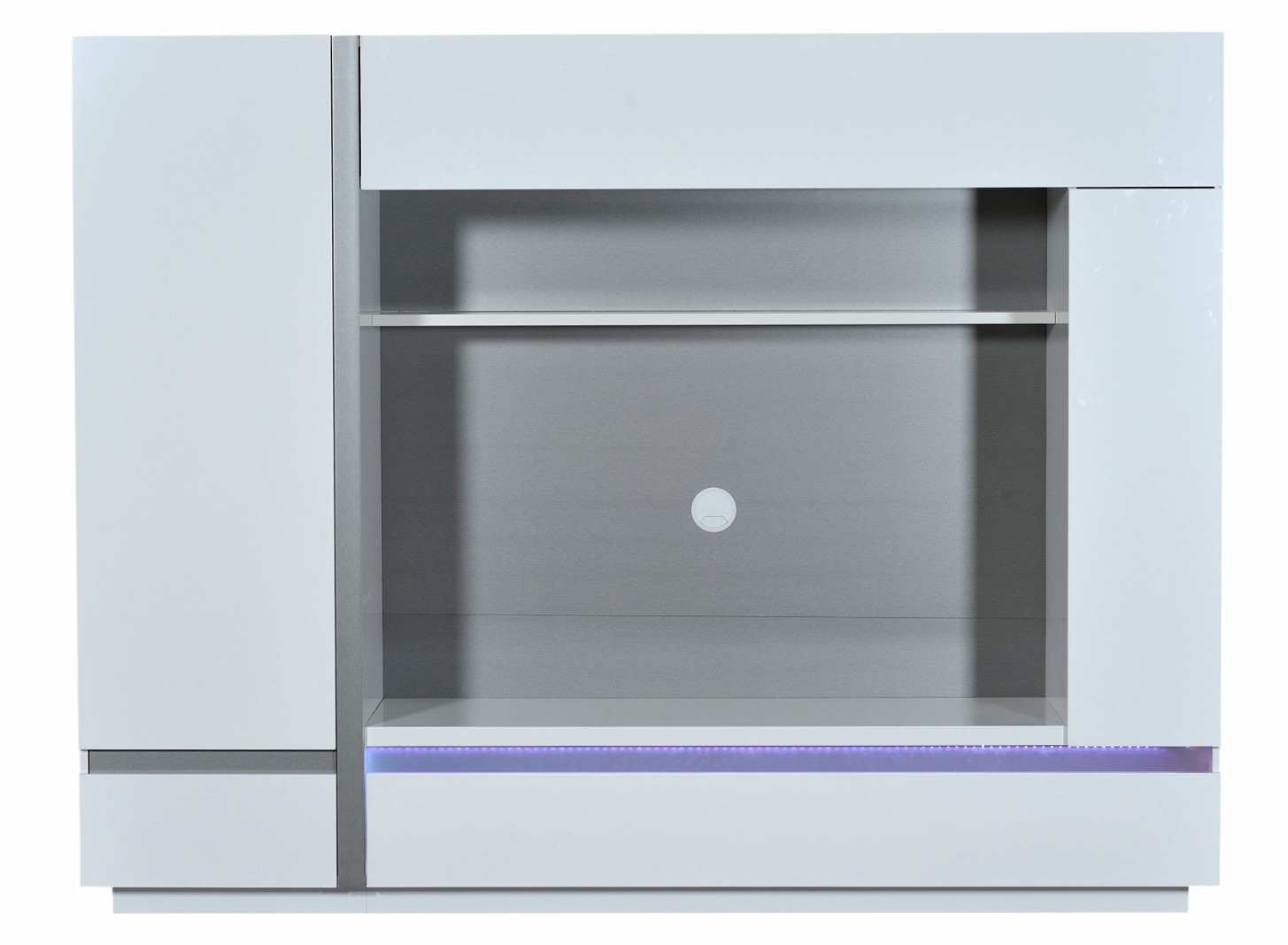 meuble tv laqu blanc lumineux kartz. Black Bedroom Furniture Sets. Home Design Ideas