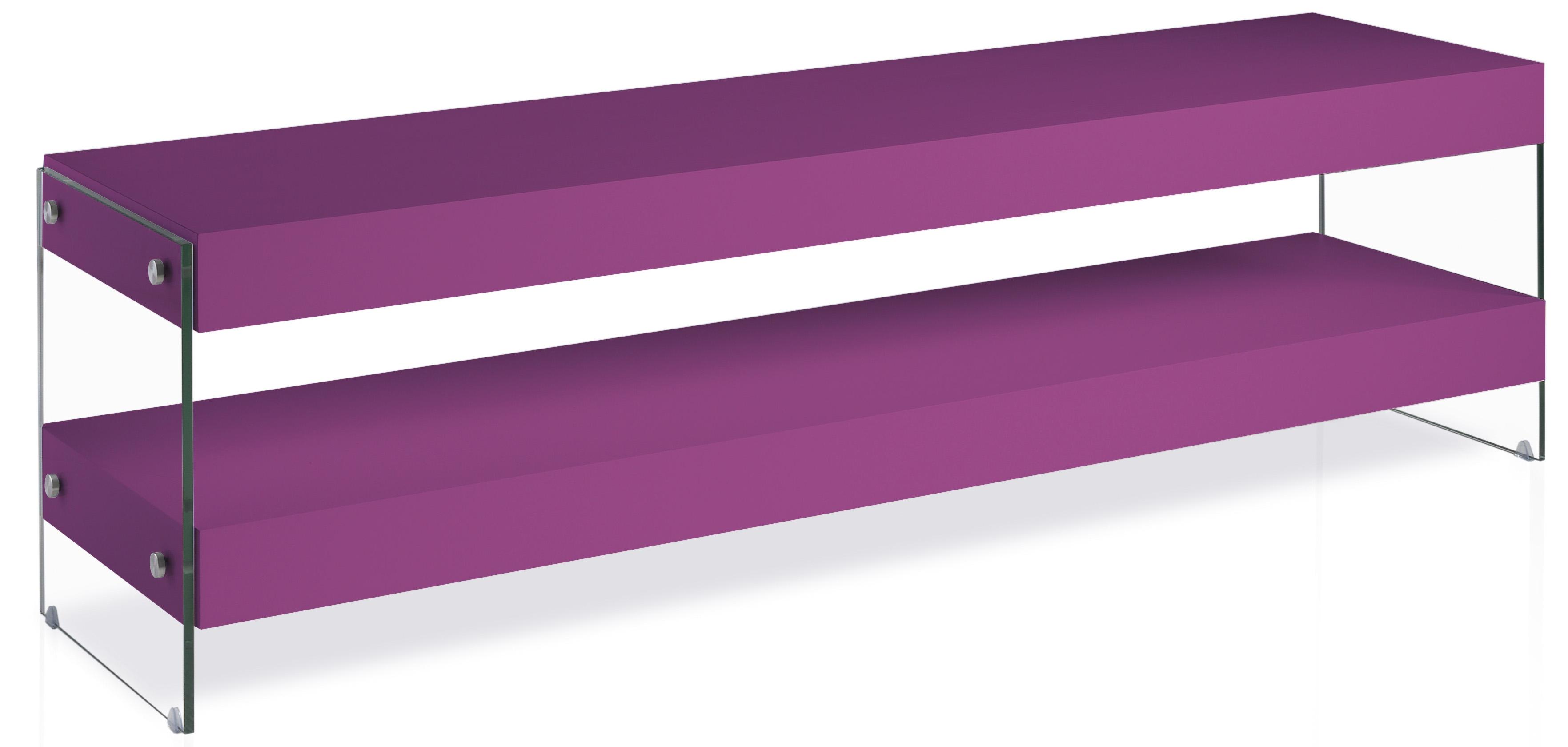 meuble tv laqu violet cubique. Black Bedroom Furniture Sets. Home Design Ideas
