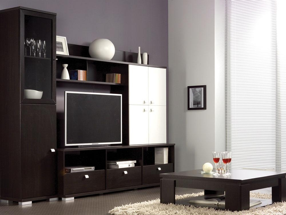 meuble tv marron urban. Black Bedroom Furniture Sets. Home Design Ideas