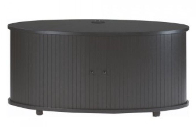 meuble tv rideaux coulissant noir desky. Black Bedroom Furniture Sets. Home Design Ideas