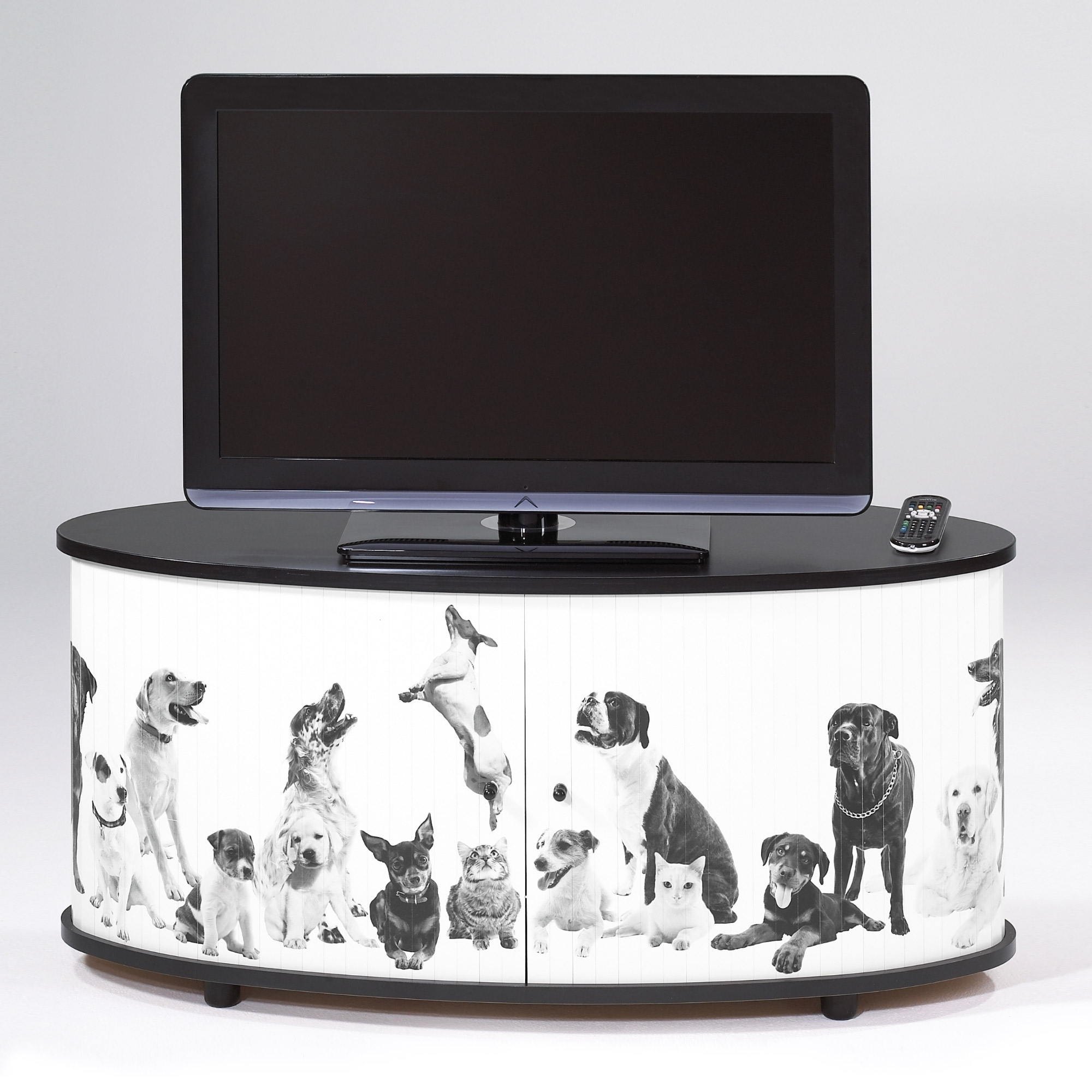 meuble tv rideaux coulissant animaux desky. Black Bedroom Furniture Sets. Home Design Ideas