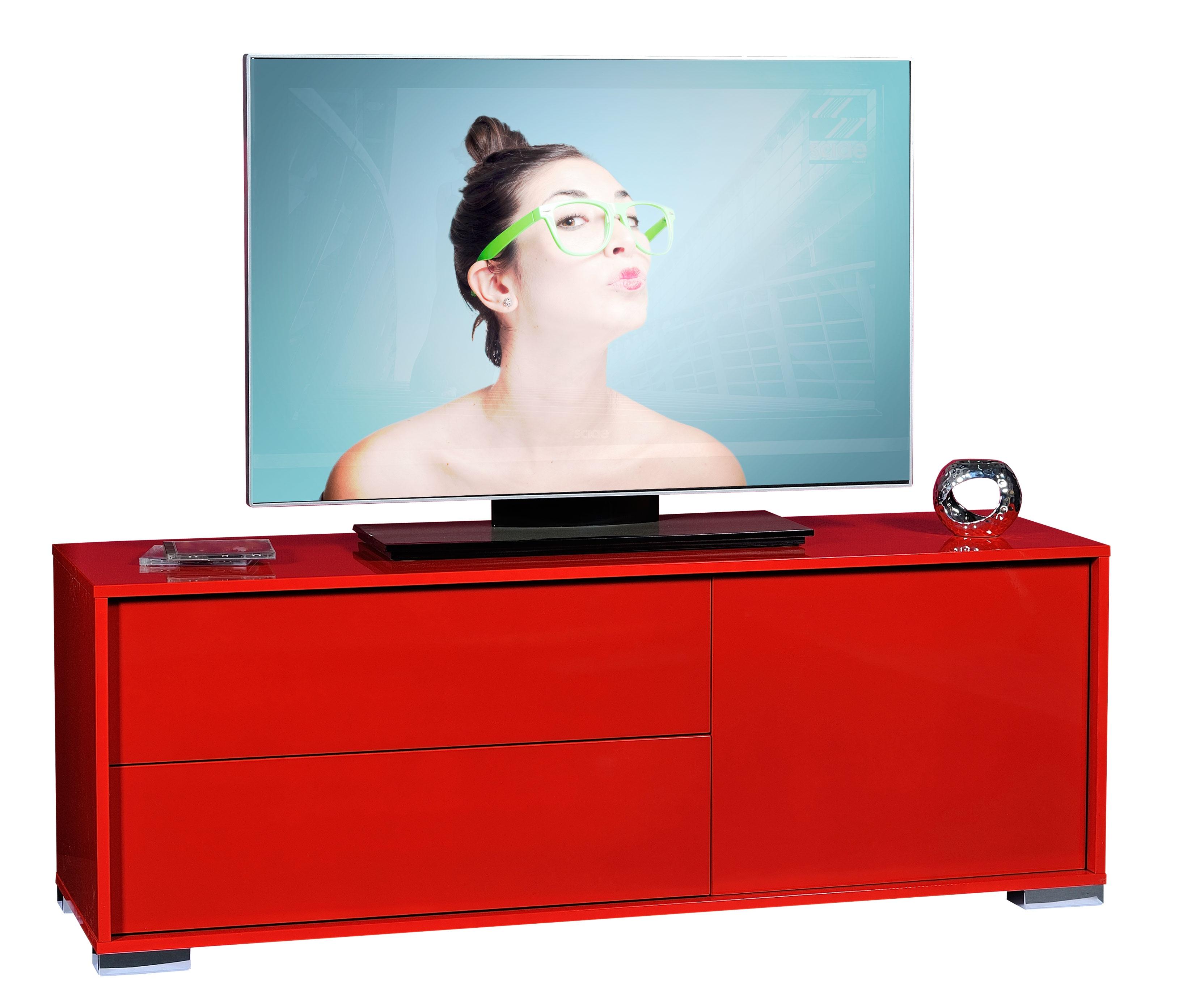 Meuble Tv Moderne Rouge : Les Tendances Meuble Tv Rouge Brillant Like