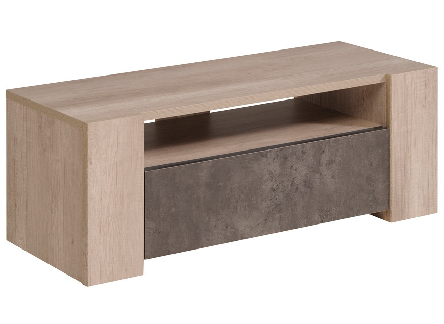 meuble tv imitation ch ne et b ton bikare. Black Bedroom Furniture Sets. Home Design Ideas