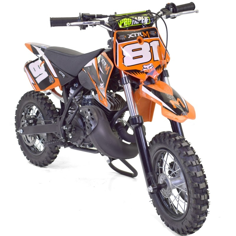 mini moto cross 50cc 2 temps orange. Black Bedroom Furniture Sets. Home Design Ideas