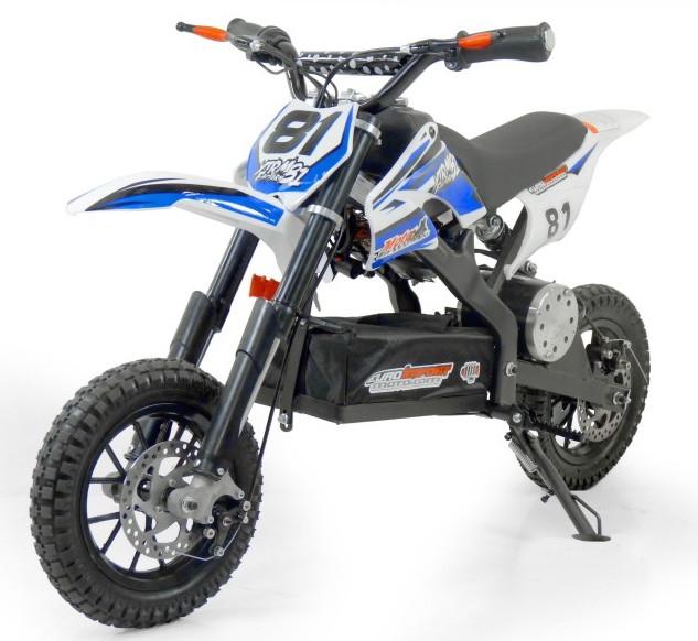 mini moto cross electrique 500w petite roue bleu mod le sans r gulateur. Black Bedroom Furniture Sets. Home Design Ideas