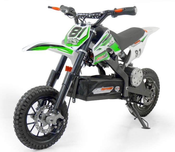 mini moto cross electrique 500w petite roue vert mod le sans r gulateur. Black Bedroom Furniture Sets. Home Design Ideas