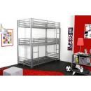 lit superpos 3 niveaux trio 90. Black Bedroom Furniture Sets. Home Design Ideas