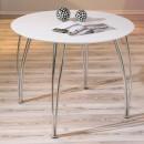 Table ronde laquée blanche Cellini - LesTendances.fr