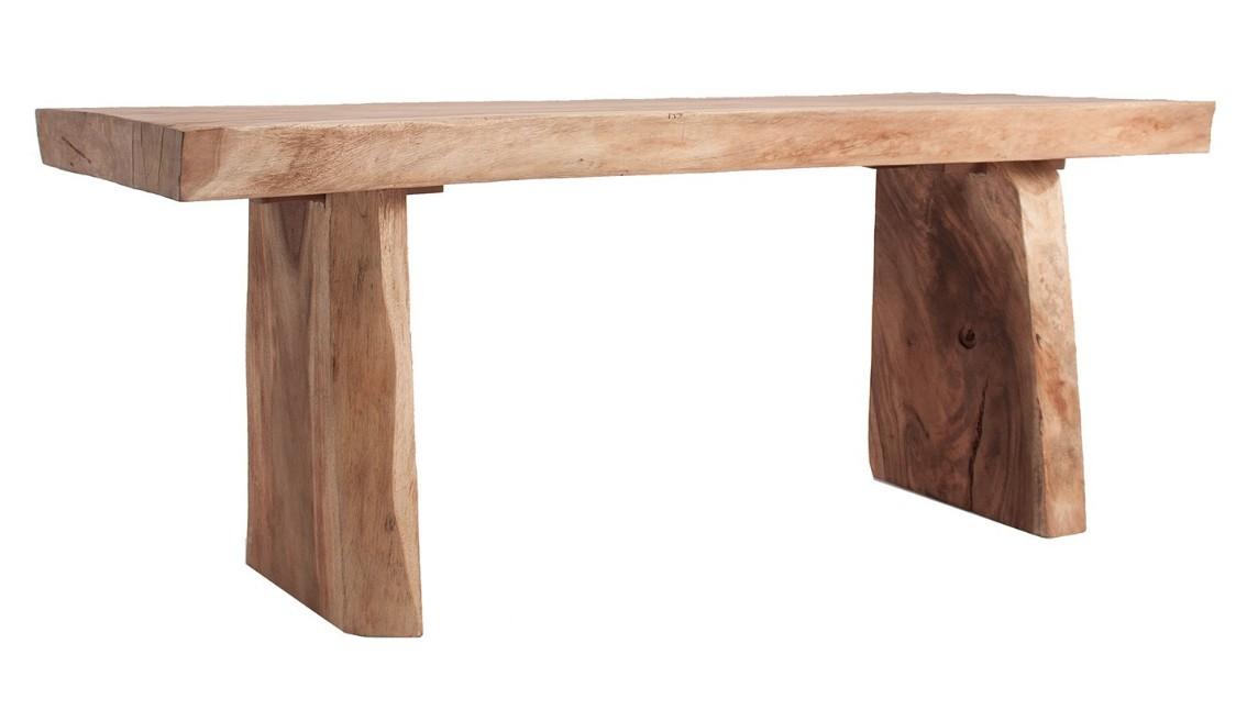 grande table bois de teck authentique naturel zen 200. Black Bedroom Furniture Sets. Home Design Ideas