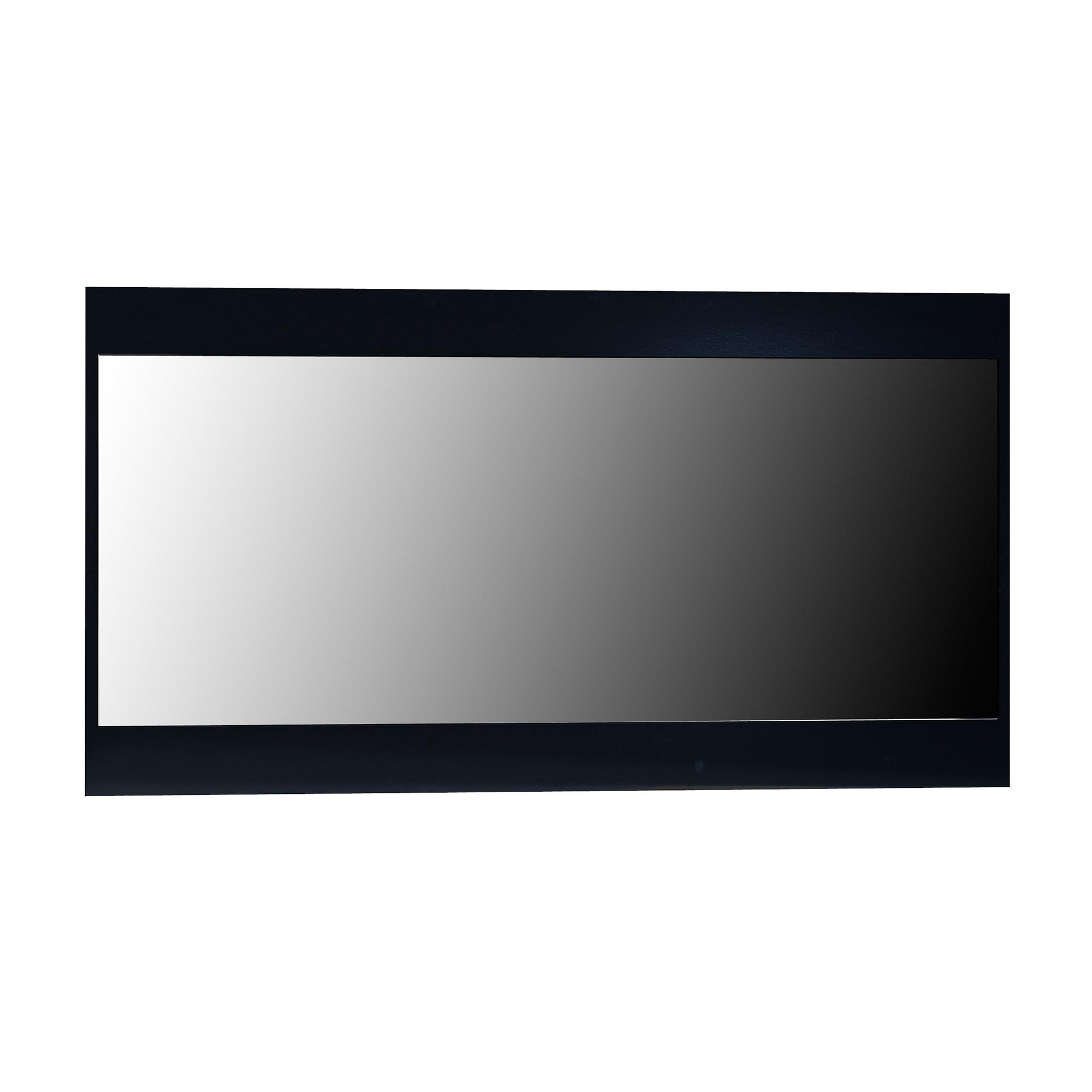 Miroir rectangulaire bois laqu noir quinze for Miroir noir rectangulaire