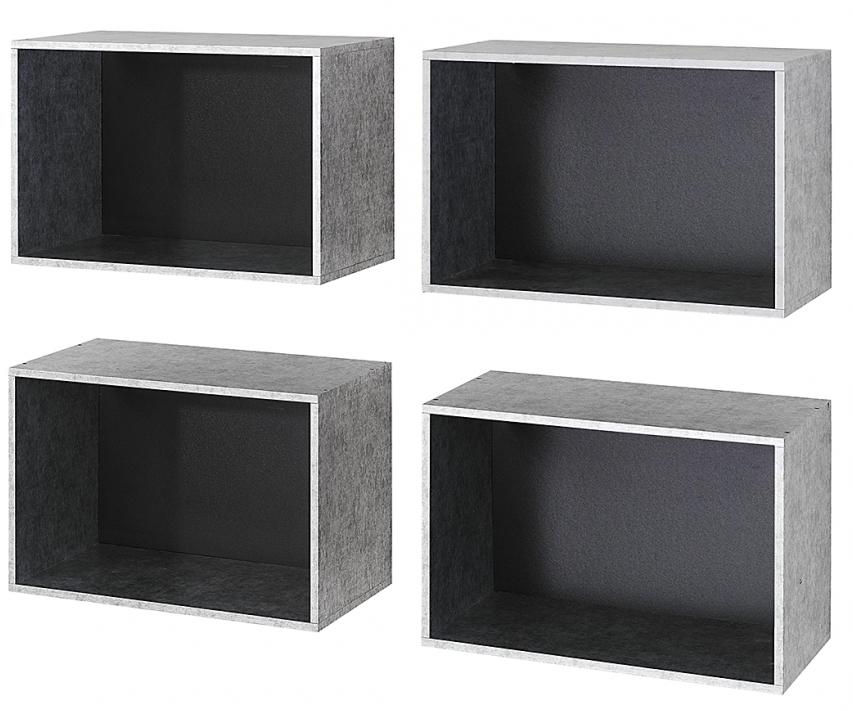 rangement mural style industriel graphite work. Black Bedroom Furniture Sets. Home Design Ideas