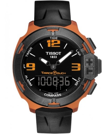 montre tissot t race touch orange t0814209705703. Black Bedroom Furniture Sets. Home Design Ideas