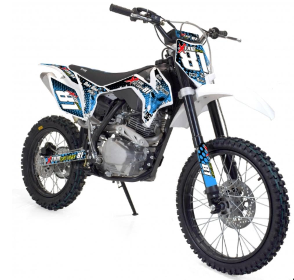 moto cross 150cc 4t xtrem bleu. Black Bedroom Furniture Sets. Home Design Ideas