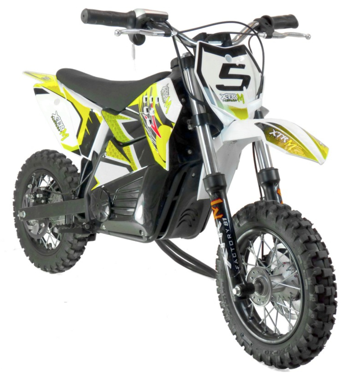 moto cross electrique 800w 10 10 jaune. Black Bedroom Furniture Sets. Home Design Ideas