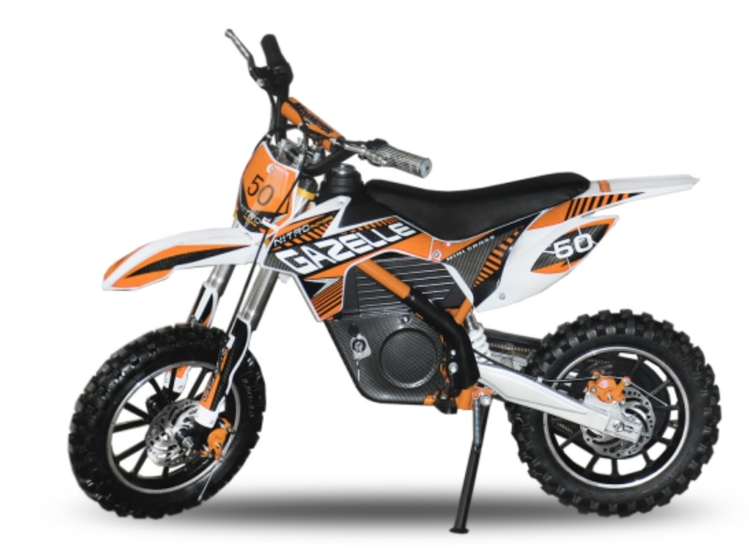 moto cross electrique gazelle 500w 24v orange. Black Bedroom Furniture Sets. Home Design Ideas