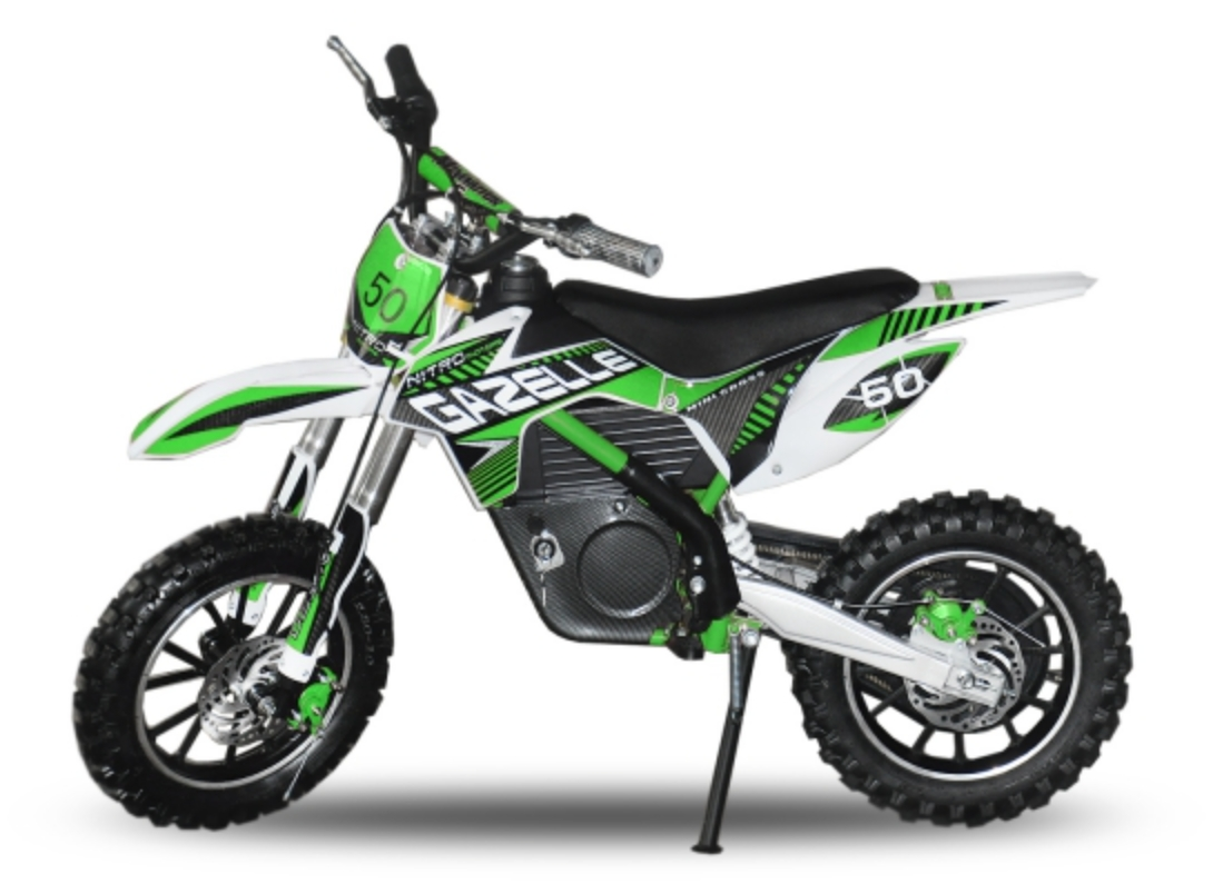 moto cross electrique gazelle 500w vert. Black Bedroom Furniture Sets. Home Design Ideas