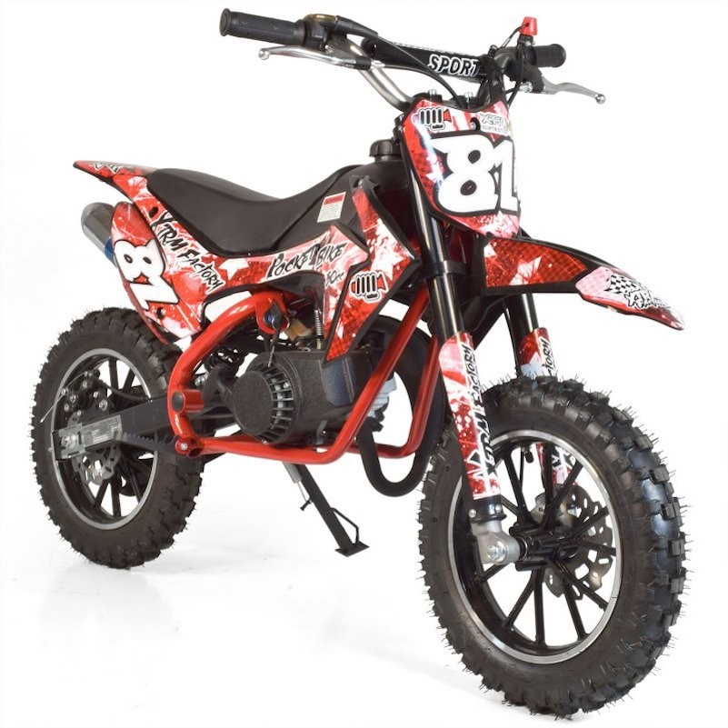 moto cross pocket 50cc 2 temps 10 10 rouge. Black Bedroom Furniture Sets. Home Design Ideas