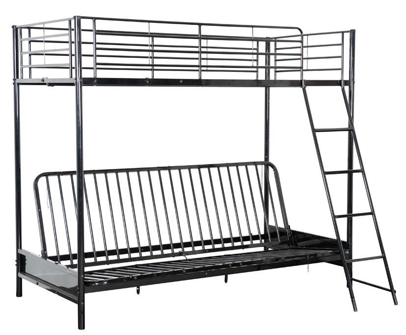 lit mezzanine m tal noir 90 avec banquette lit mezza. Black Bedroom Furniture Sets. Home Design Ideas
