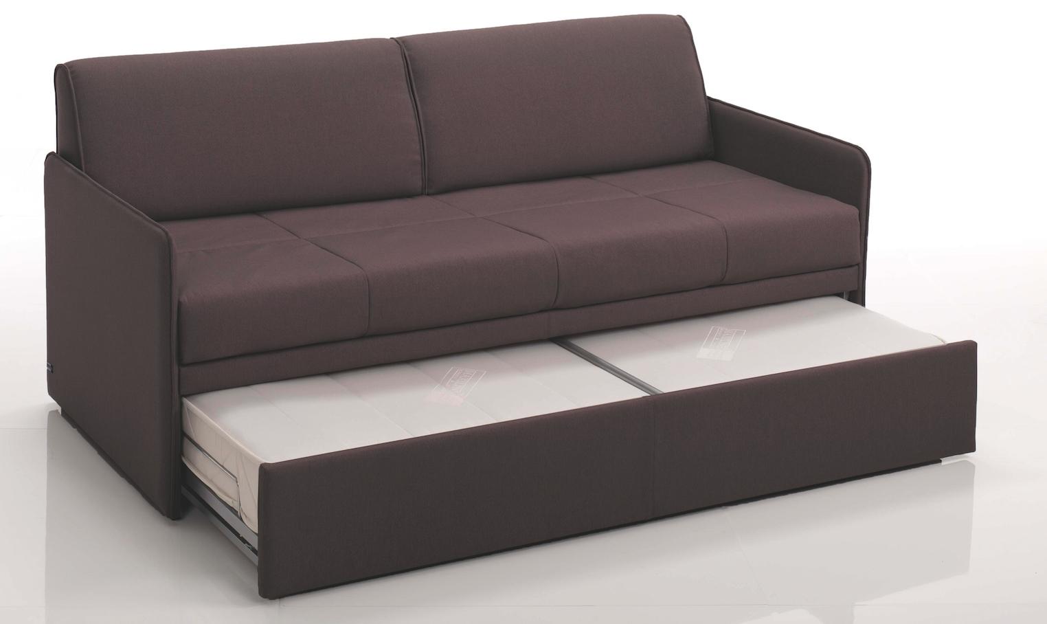 canap convertible gigogne rev tement microfibre marron modane. Black Bedroom Furniture Sets. Home Design Ideas