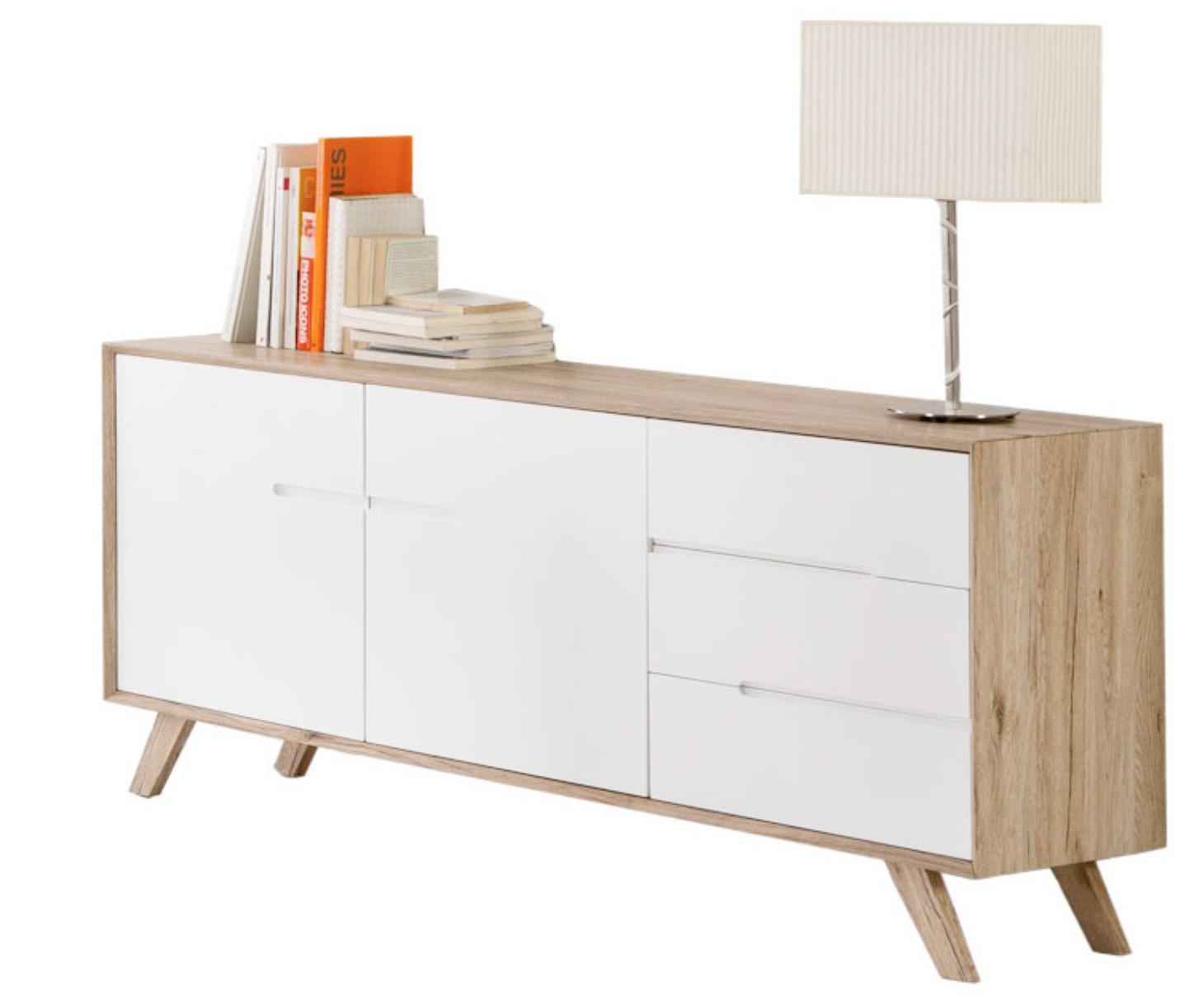 buffet 2 portes 3 tiroirs san remo et laqu blanc teny. Black Bedroom Furniture Sets. Home Design Ideas