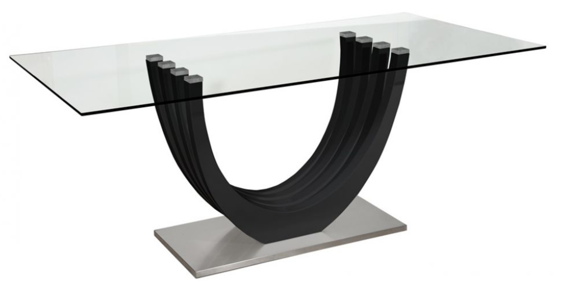 table manger design laqu e noir bridge. Black Bedroom Furniture Sets. Home Design Ideas