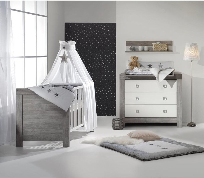 pack duo chambre grise et blanche nordic driftwood. Black Bedroom Furniture Sets. Home Design Ideas