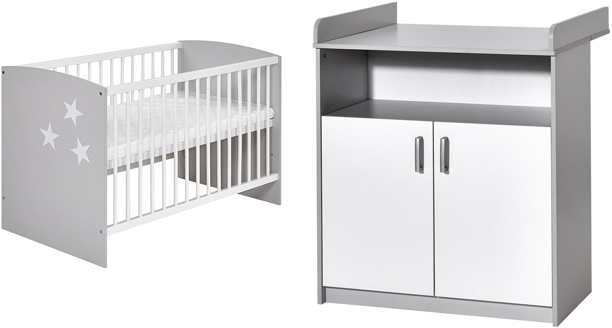 Pack duo chambre gris et blanc classic grey 60 - Chambre gris et blanc ...