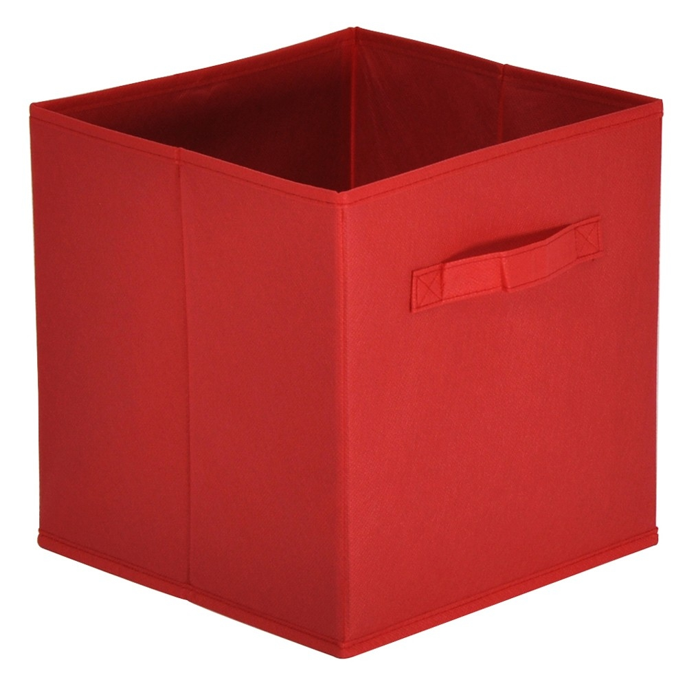 Panier tiroir rouge mona - Meuble tiroir panier ...