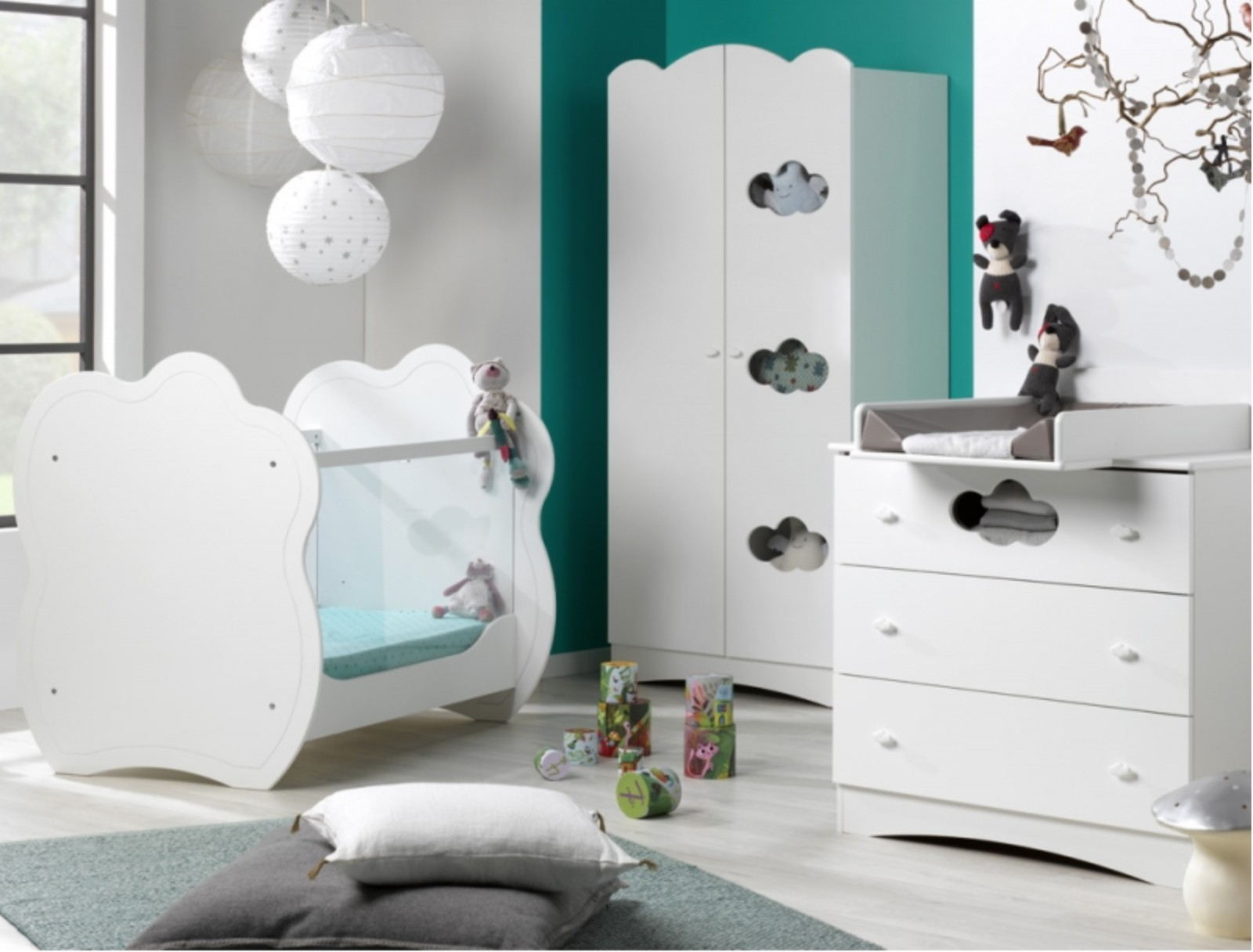petite chambre b b blanche ciela. Black Bedroom Furniture Sets. Home Design Ideas