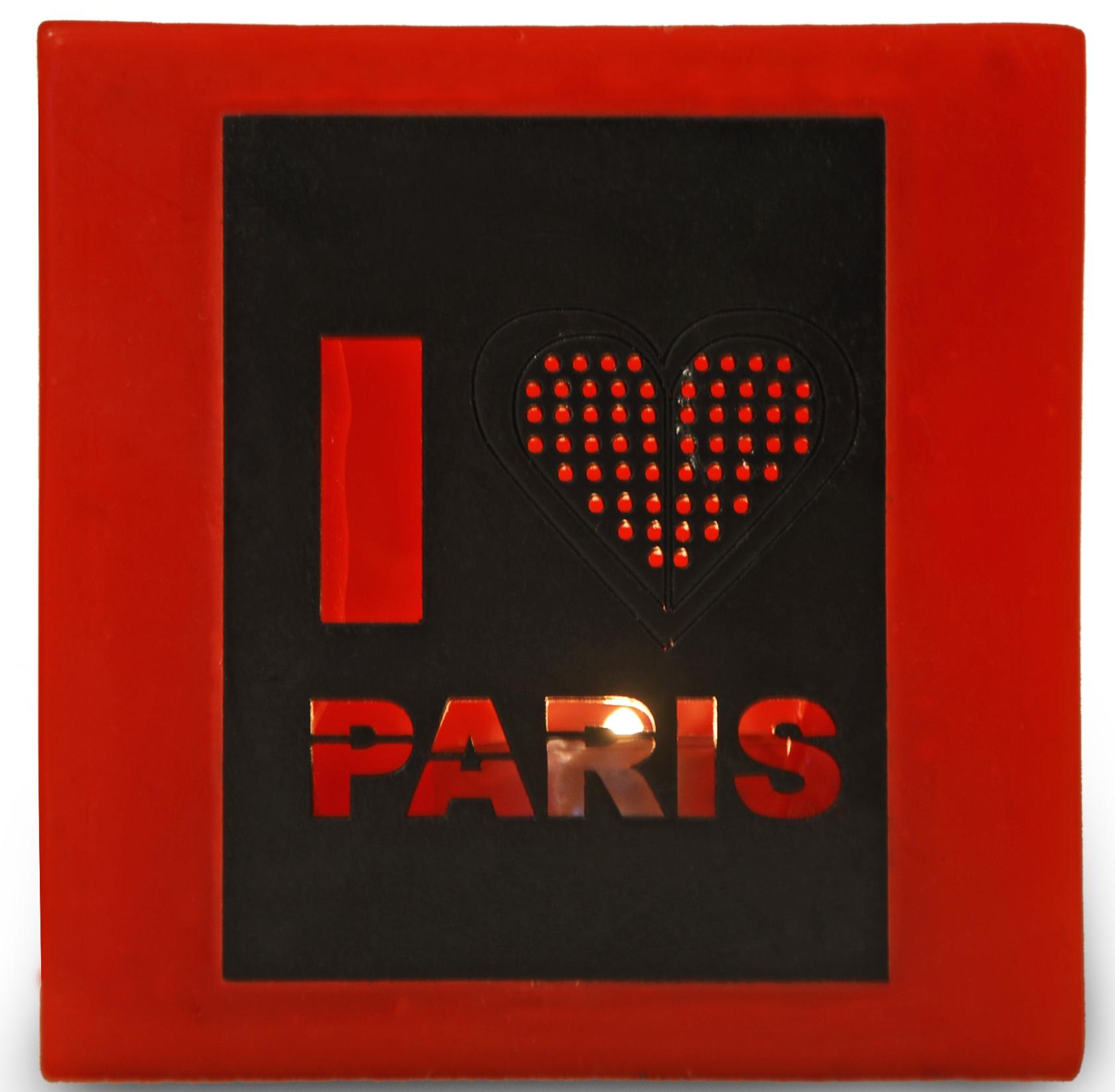 photophore rouge j 39 aime paris. Black Bedroom Furniture Sets. Home Design Ideas