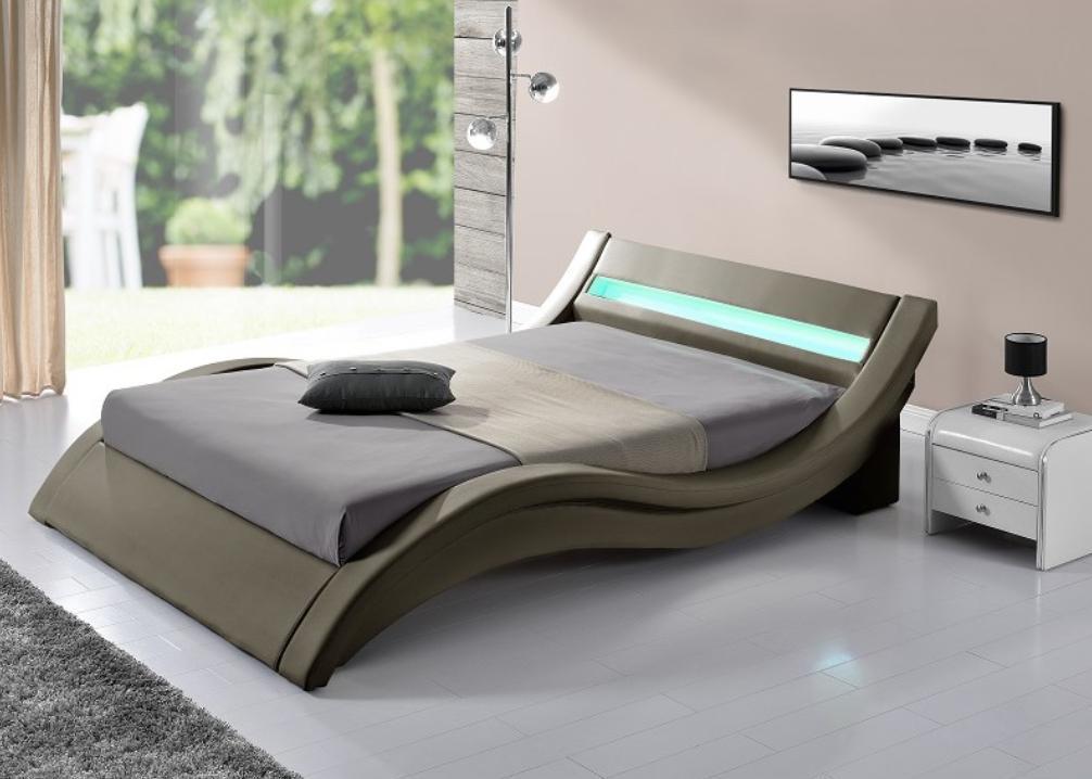 lit moderne taupe simili 180 kliss. Black Bedroom Furniture Sets. Home Design Ideas