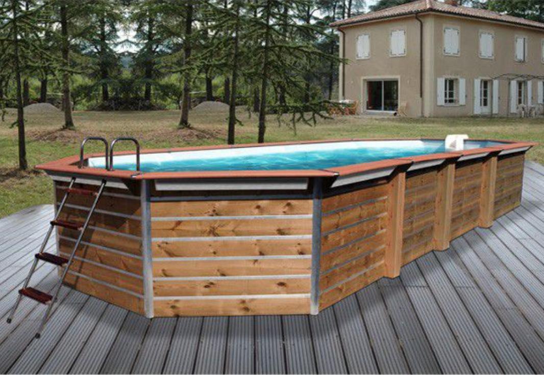 piscine bois calayan 890x420x129cm. Black Bedroom Furniture Sets. Home Design Ideas