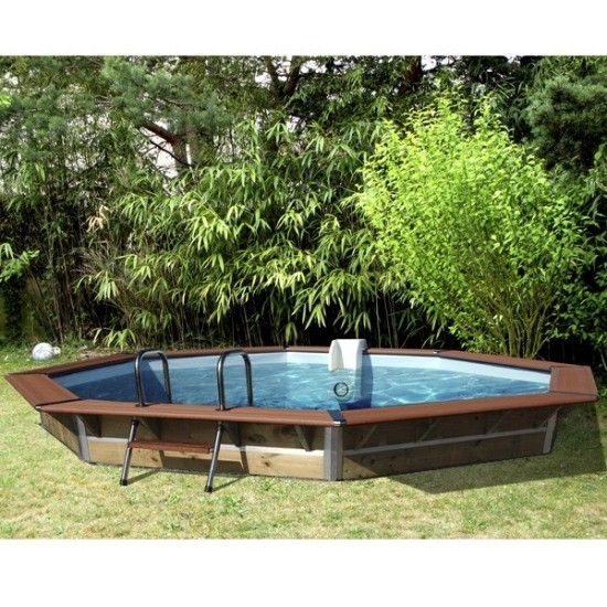 les tendances piscine bois cleofas 4m60 waterclip. Black Bedroom Furniture Sets. Home Design Ideas
