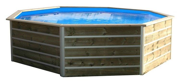 Piscine bois sibuyan 340x295x94cm for Accessoire piscine 94