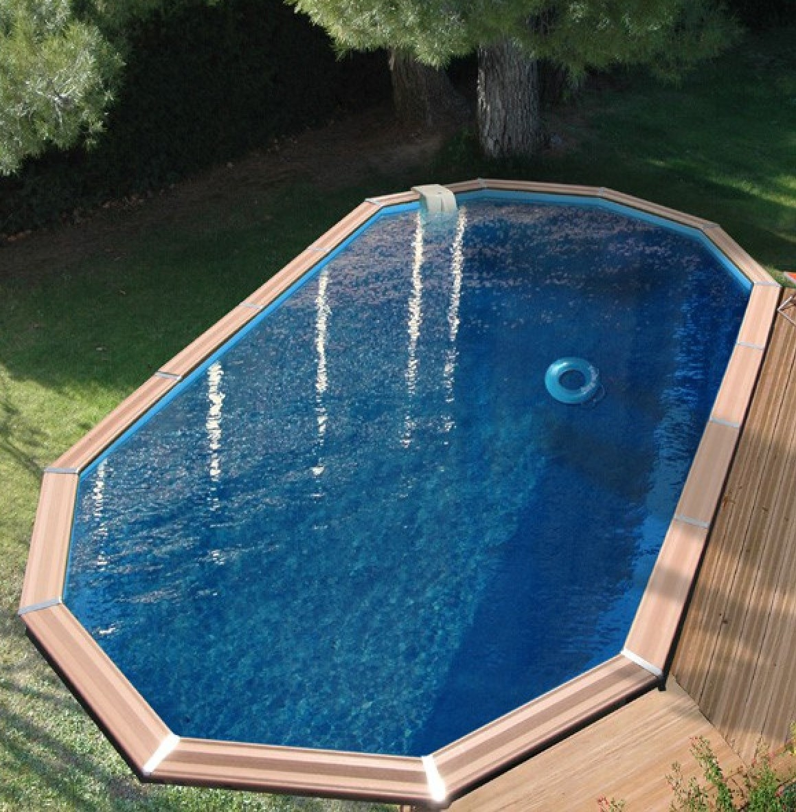 Piscine bois waterclip myconos 9m55 for Piscine waterclip