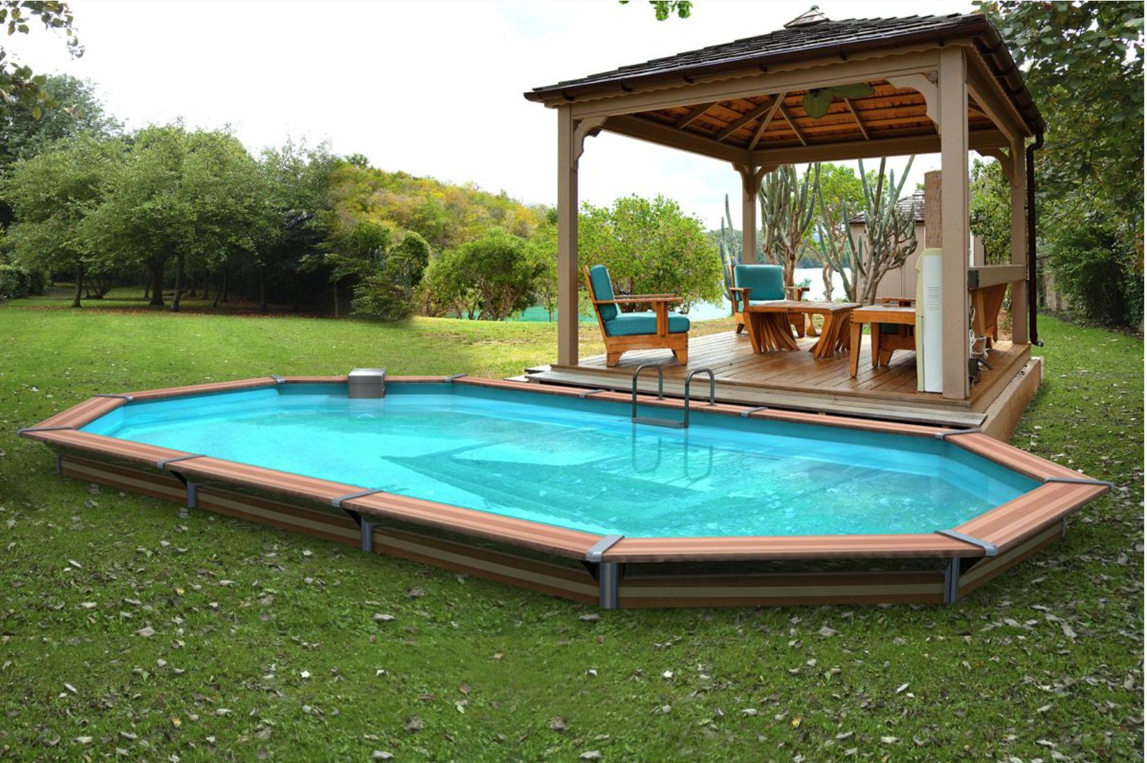 Piscine bois siayan 730x420x129cm for Piscine bois enterrable