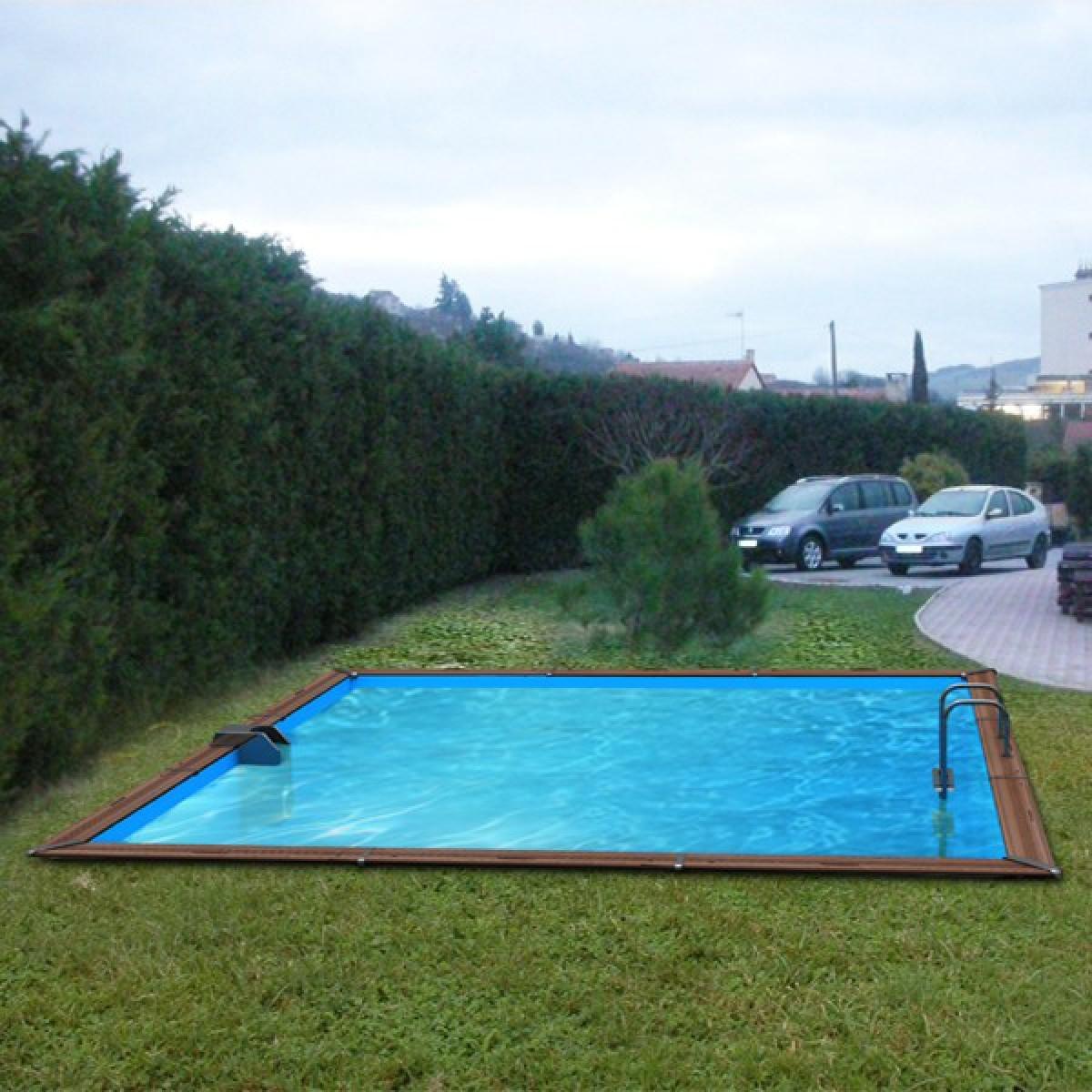Piscine bois waterclip solta 5m20 for Piscine bois carree