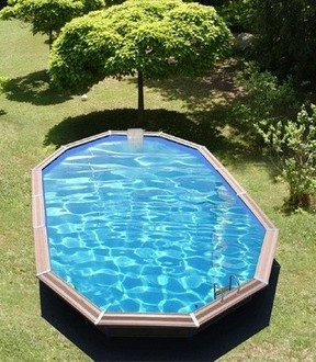 Piscine bois waterclip syros 8m00 for Piscine waterclip