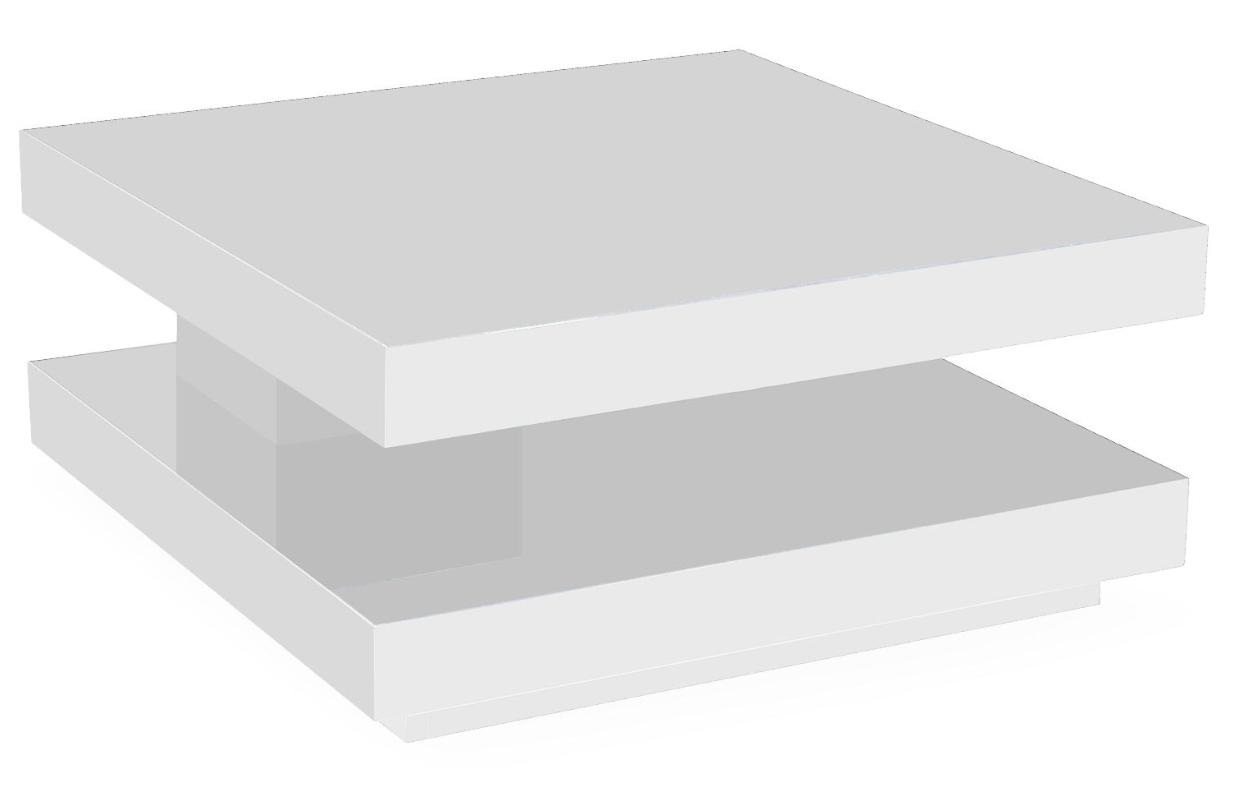 Table basse carr e laqu e pivotante blanc baxter - Table basse carree laquee ...