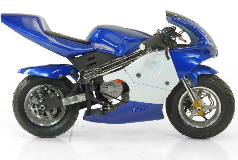 moto de course electrique gp 350w bleu. Black Bedroom Furniture Sets. Home Design Ideas