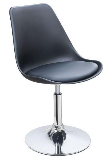 Chaise de salle manger noir loky for Chaise hauteur assise 48